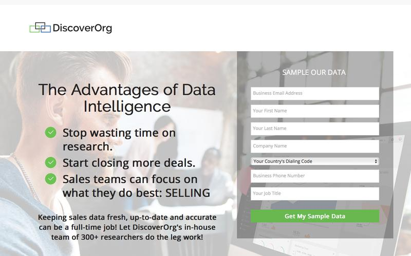 Accurate & Fresh Sales Data, Right at Your Finger Tips | DiscoverOrg