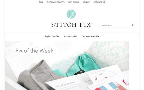 Screenshot of Blog stitchfix.com - Stitch Fix Blog - captured Sept. 17, 2014