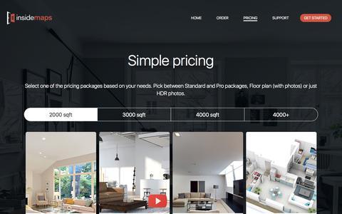 Screenshot of Pricing Page insidemaps.com - InsideMaps - captured Nov. 1, 2017
