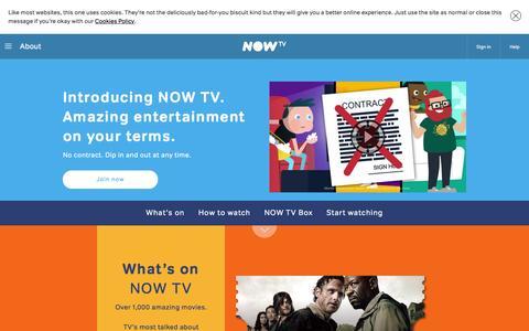 Screenshot of About Page nowtv.com captured Nov. 25, 2015