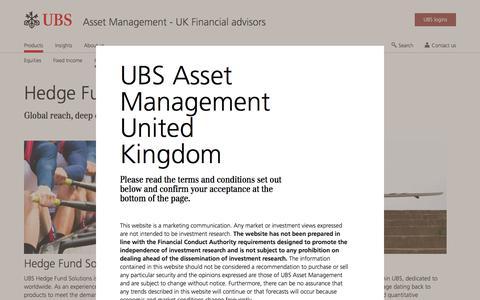 Screenshot of Team Page ubs.com - Hedge Funds | Asset Management | UBS United Kingdom - captured Nov. 14, 2019