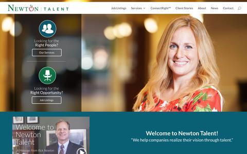 Screenshot of Home Page newtontalent.com - Newton Talent - HOME - Newton Talent - captured March 20, 2016