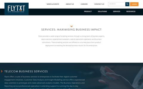 Services   Flytxt