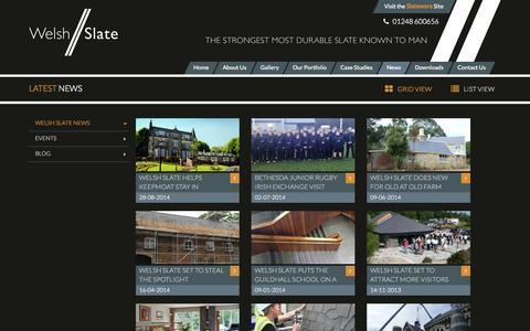Screenshot of Press Page welshslate.com - News   Welsh Slate - captured Sept. 26, 2014
