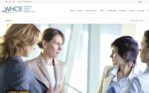 Screenshot of Home Page whcesfbay.org - Women Health Care Executives | - captured Oct. 12, 2015