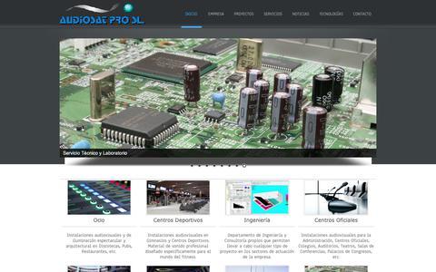 Screenshot of Home Page audiosatpro.es - Audiosat Pro, S.L. - captured Oct. 4, 2018