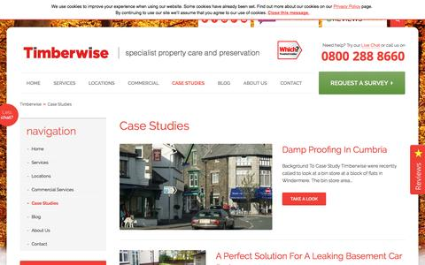 Screenshot of Case Studies Page timberwise.co.uk - Case Studies | Timberwise - captured Dec. 3, 2016