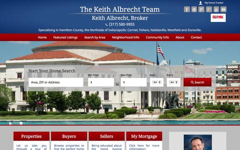 Screenshot of Home Page keithshomes.com - RE/MAX Real Estate Groups - Buying and Selling Hamilton County Homes - captured Feb. 15, 2016