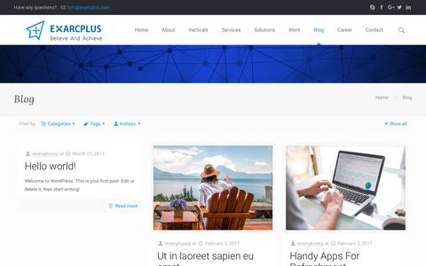 Blog - Exarcplus Mobile Apps Pvt Ltd.
