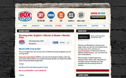 Screenshot of Press Page boxnation.com - Boxing News | The Latest World Boxing News on BoxNation - captured Sept. 19, 2014