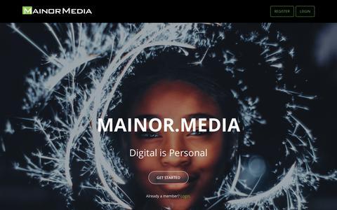 Screenshot of Home Page mainor.media - Mainor.Media - Welcome - captured Oct. 2, 2018