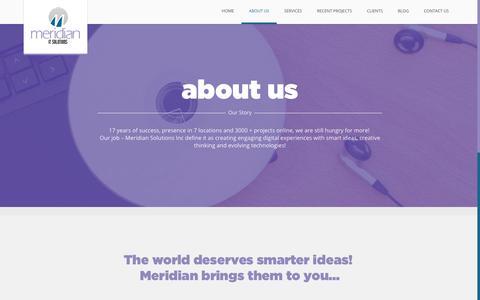 Screenshot of About Page meridianuae.com - Best Web Development Companies In Sharjah, Dubai - Meridian Inc - captured Oct. 17, 2018
