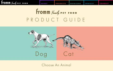 Screenshot of Products Page frommfamily.com - Product Guide - Fromm Family Foods - captured Nov. 25, 2016