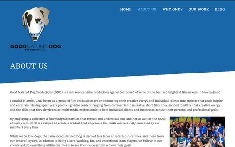 Screenshot of About Page goodnatureddog.com - About Us  | Good Natured Dog - captured Dec. 12, 2015