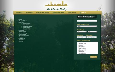 Screenshot of Site Map Page thecharlesrealty.com - Boston Luxury Real Estate - Sitemap - captured Oct. 7, 2014
