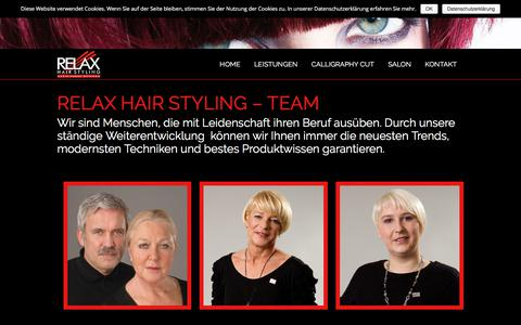 Screenshot of Team Page relax-hairstyling.de - Relax Hair Styling - Team - Relax Hairstyling - captured June 10, 2018