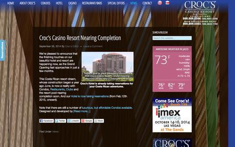 Screenshot of Blog crocscasinoresort.com - Croc's Casino Resort Blog | CrocsCasinoResort.com - captured Sept. 30, 2014