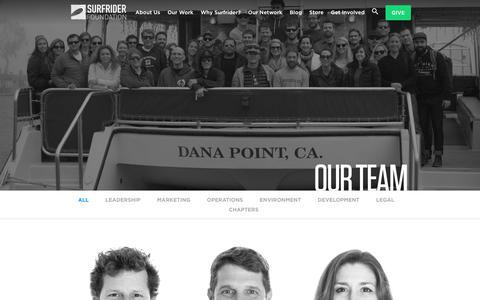 Screenshot of Team Page surfrider.org - Our Team - Surfrider Foundation - captured Sept. 27, 2018