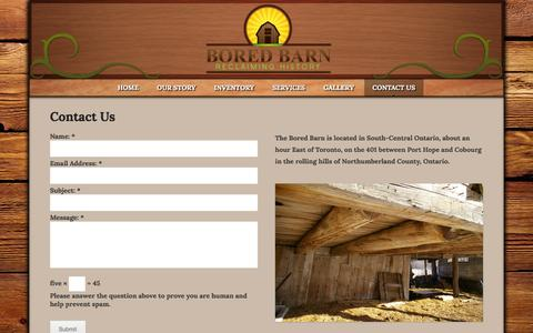 Screenshot of Contact Page boredbarn.ca - Contact Us | Bored Barn - captured Jan. 7, 2016