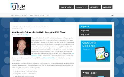 Screenshot of Blog gluenetworks.com - Glue Networks - Blog 06.27.14 - captured July 19, 2014