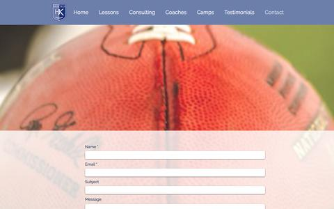 Screenshot of Contact Page hustedkicking.com - Kicking Lessons | Husted Kicking | Contact - captured July 23, 2018