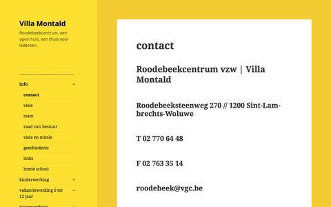 Screenshot of Contact Page wordpress.com - contact – Villa Montald - captured March 4, 2018