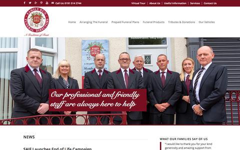 Screenshot of Press Page johnghogg.co.uk - News - John G Hogg Funeral Directors - captured Sept. 20, 2018