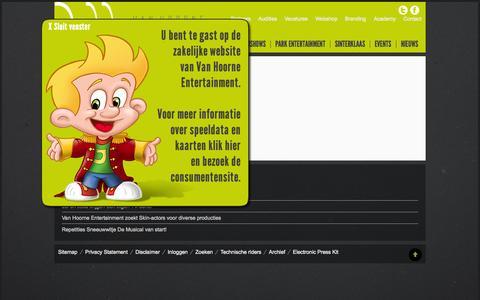 Screenshot of Login Page vanhoorneentertainment.nl - Inloggen - Van Hoorne - captured Oct. 27, 2014