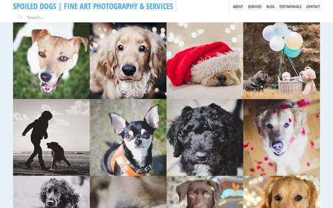 Screenshot of Home Page spoileddo.gs - Spoiled Dogs - A happy dog means a happy you! - captured Feb. 15, 2016