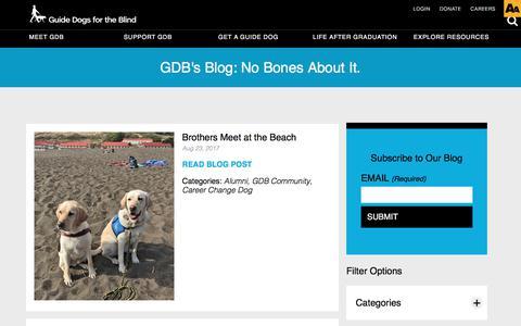Screenshot of Blog guidedogs.com - Blog - captured Sept. 24, 2017