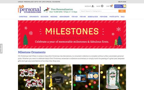 Personalized Milestone Christmas Ornaments at Personal Creations