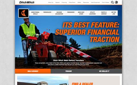 Screenshot of Home Page ditchwitch.com - Ditch Witch | Manufacturer of Trenchers, Plows, and Directional Drills - captured Sept. 30, 2014