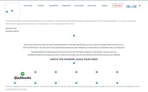 Microsoft Surface Inventory App | Fishbowl