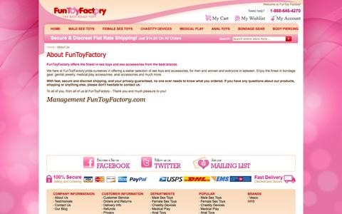 Screenshot of About Page funtoyfactory.com - About Us - captured Oct. 6, 2014