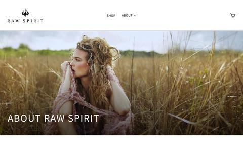 Screenshot of About Page rawspiritfragrances.com - About Raw Spirit  – Raw Spirit Fragrances - captured Nov. 23, 2018