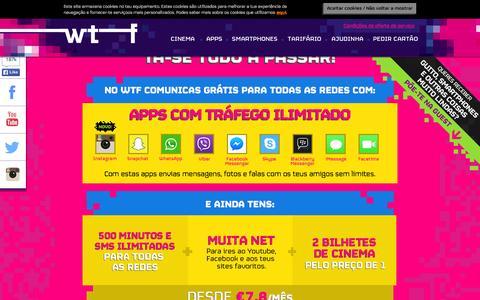 Screenshot of Home Page wtf.pt - WTF – Tá-se tudo a passar - captured Nov. 16, 2015
