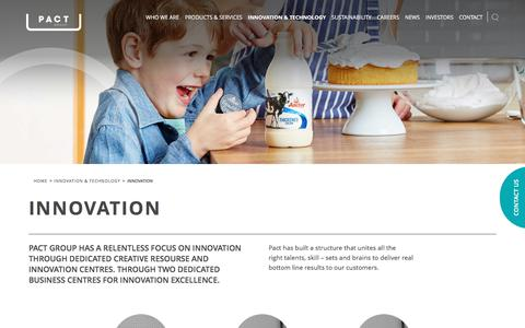 Screenshot of Case Studies Page pactgroup.com.au - Innovation – Pact Group - captured Oct. 15, 2017