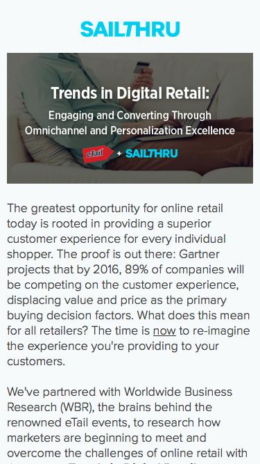 eTail Trends in Digital Retail | Sailthru