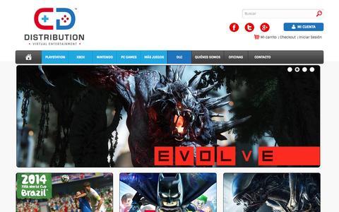 Screenshot of Home Page cddistribution.com - CD Distribution - captured Jan. 16, 2015