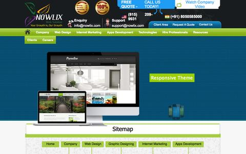 Screenshot of Site Map Page nowlix.com - Sitemap | Nowlix Web Solution - captured Oct. 6, 2014