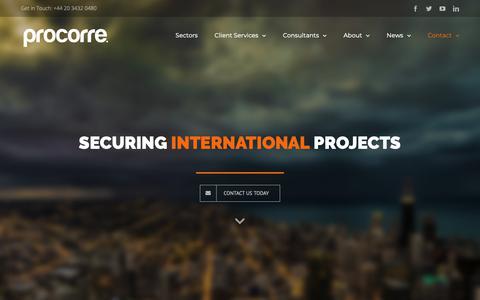 Screenshot of Locations Page procorre.com - Locations – Procorre - captured Sept. 30, 2018