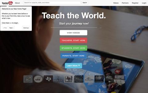 Screenshot of Home Page teachertube.com - TeacherTube - captured Nov. 12, 2015