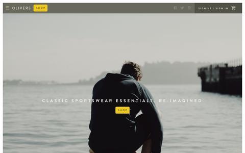 Screenshot of Home Page oliversapparel.com - OLIVERS Apparel - captured Nov. 10, 2015