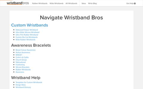 Wristband Bros Site Map