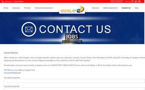 Screenshot of Jobs Page designers-den.com - Jobs in Saudi Arabia | Makkah | Medina | Jeddah | Dammam | Riyadh | Alkhobar - captured Nov. 24, 2016