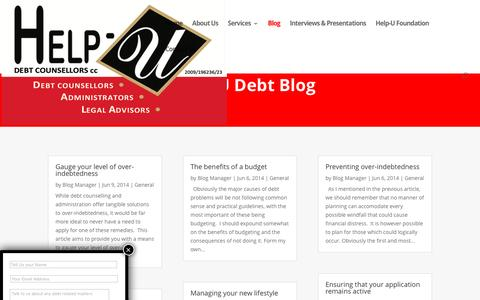 Screenshot of Blog helpudebtcounsellors.co.za - Blog | Help-U Debt Counsellors - captured July 13, 2016