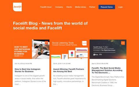 Screenshot of Blog facelift-bbt.com - Market Insights | Facelift - captured Oct. 21, 2018