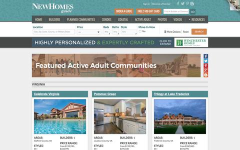 Active Adult Communities in VA, MD, PA, WV - New Homes Guide