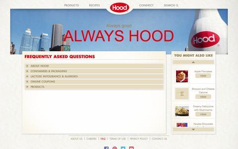 Screenshot of FAQ Page hood.com - Hood® | FAQs - captured Nov. 1, 2014
