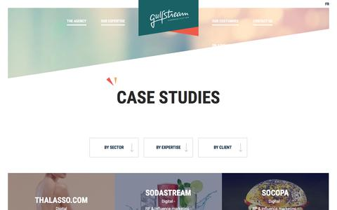 Screenshot of Case Studies Page gulfstream-communication.fr - Case studies - Gulfstream Communication - captured July 25, 2018